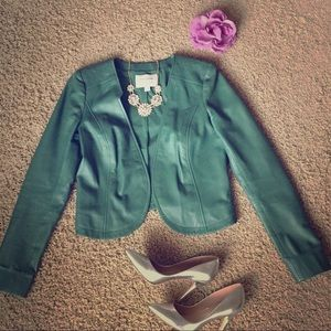 Nordstrom Hinge Leather Jacket Size Small